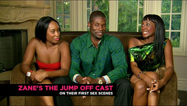and Tanjareen Martin during cast interview for Zane s The Jump OffZanes The Jump Off