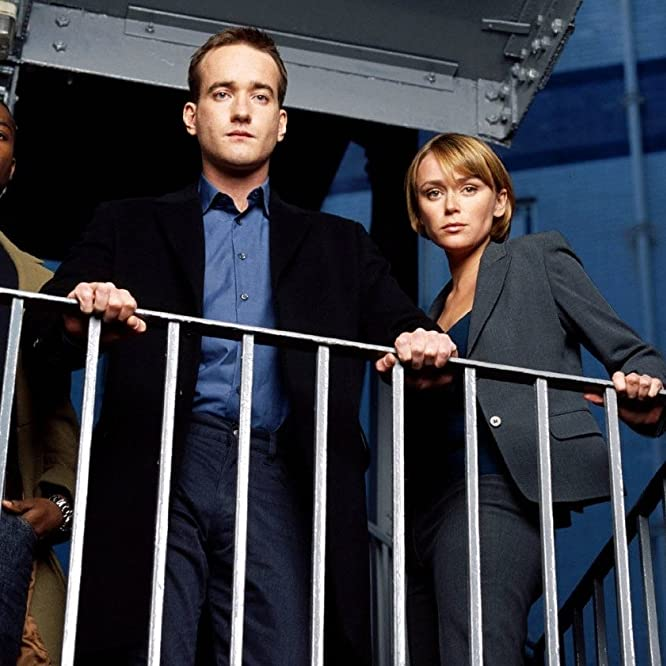 Keeley Hawes, Matthew Macfadyen, and David Oyelowo in MI-5 (2002)