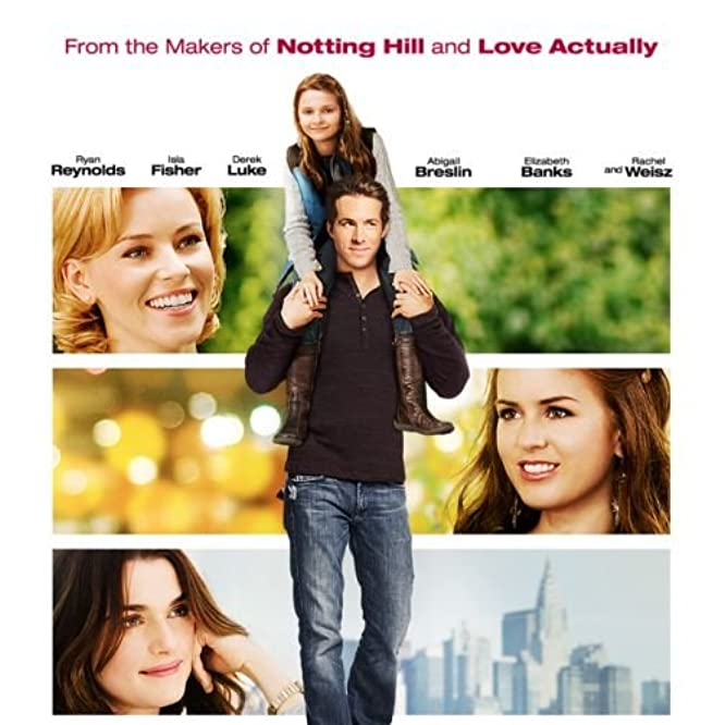 Rachel Weisz, Ryan Reynolds, Elizabeth Banks, Isla Fisher, and Abigail Breslin in Definitely, Maybe (2008)