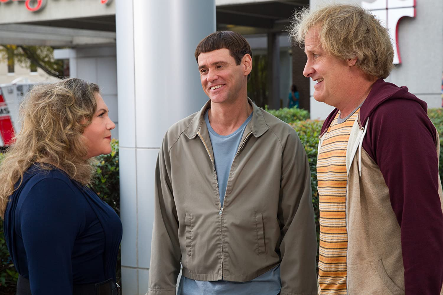 Jim Carrey, Kathleen Turner, and Jeff Daniels in Dumb and Dumber To (2014)