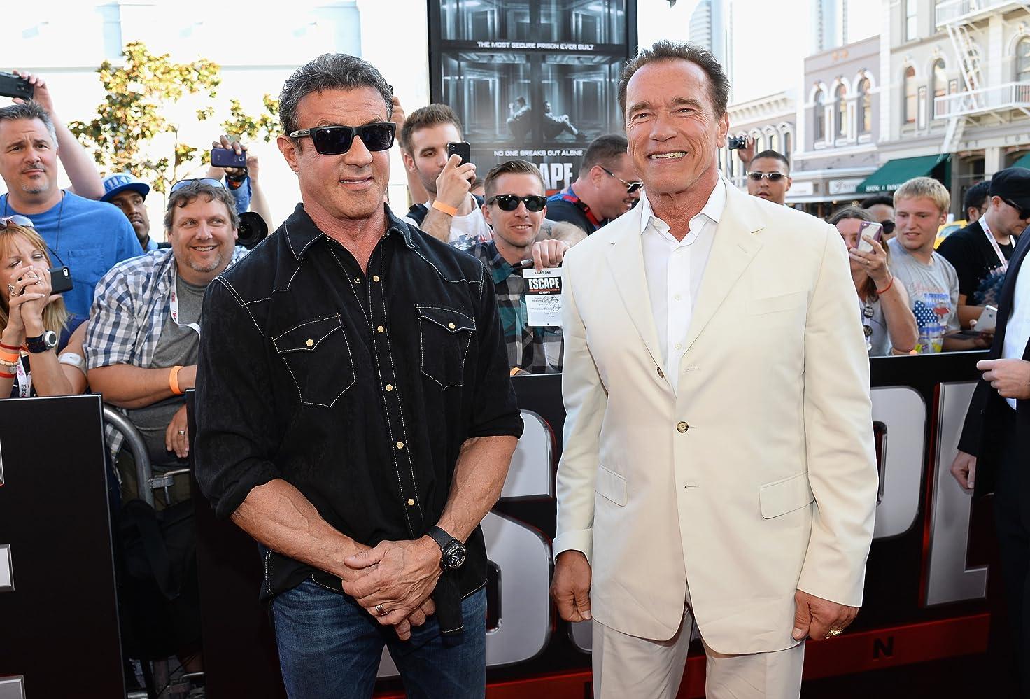 Sylvester Stallone And Arnold Schwarzenegger In Hospital