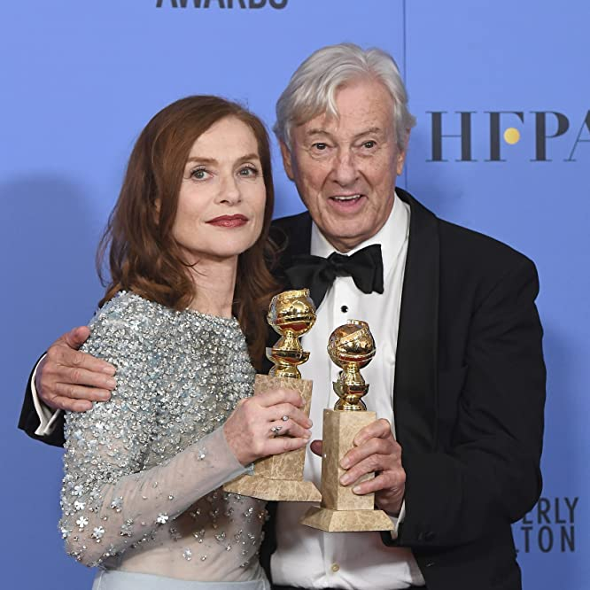 Paul Verhoeven and Isabelle Huppert at an event for The 74th Golden Globe Awards (2017)