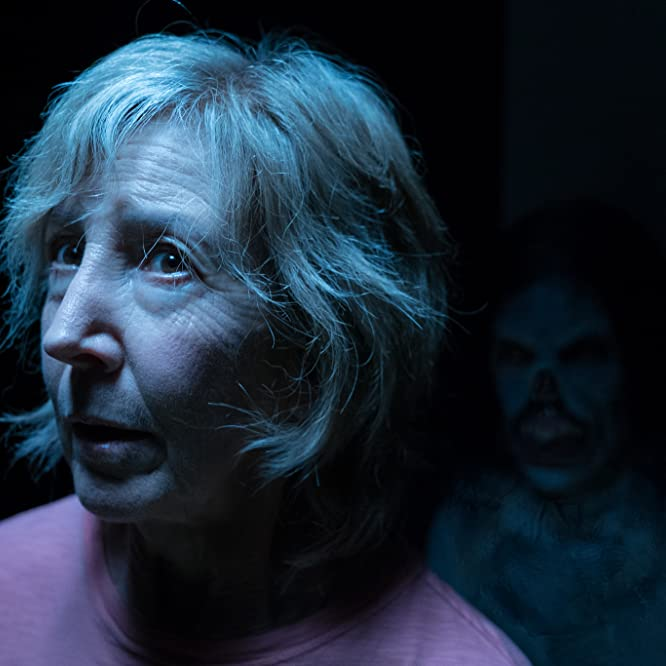 Lin Shaye and Javier Botet in Insidious: The Last Key (2018)