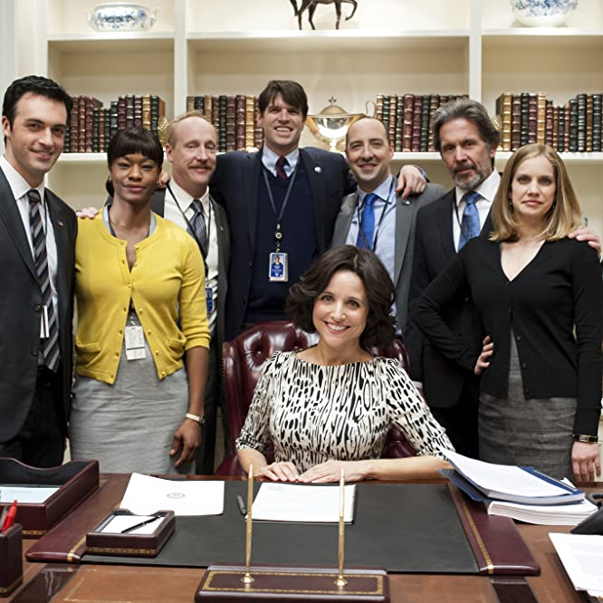 Julia Louis-Dreyfus, Anna Chlumsky, Gary Cole, Tony Hale, Matt Walsh, Reid Scott, Sufe Bradshaw, and Timothy Simons in Veep (2012)