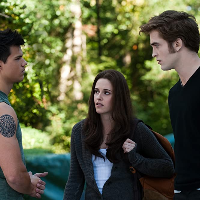 Kristen Stewart, Taylor Lautner, and Robert Pattinson in The Twilight Saga: Eclipse (2010)
