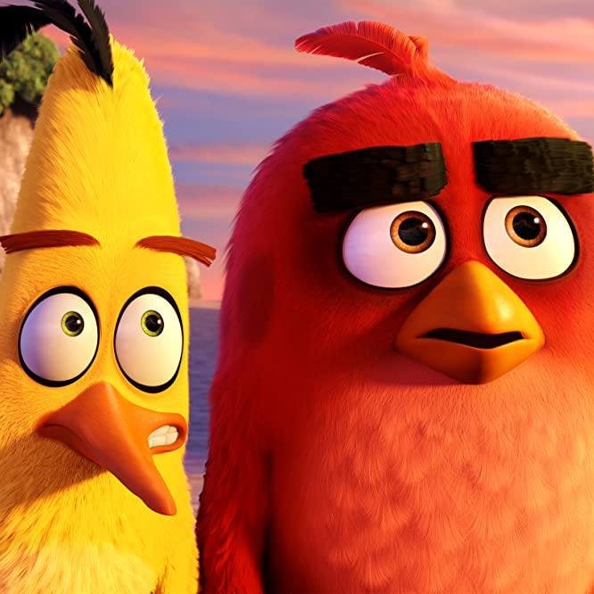 Jason Sudeikis and Josh Gad in The Angry Birds Movie (2016)