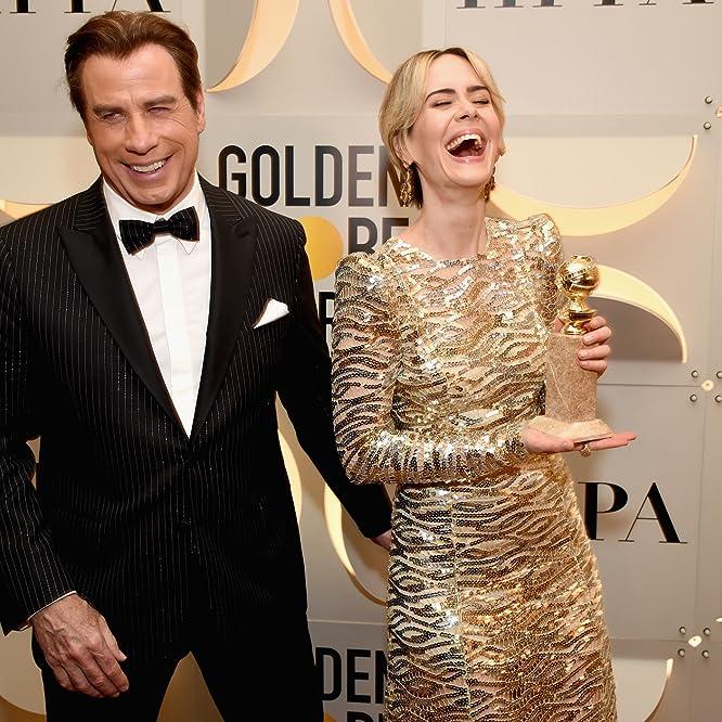 John Travolta and Sarah Paulson at an event for The 74th Golden Globe Awards (2017)