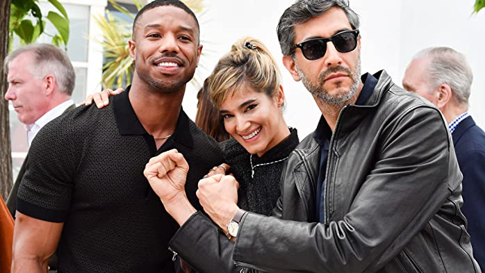 Michael B. Jordan, Ramin Bahrani, and Sofia Boutella