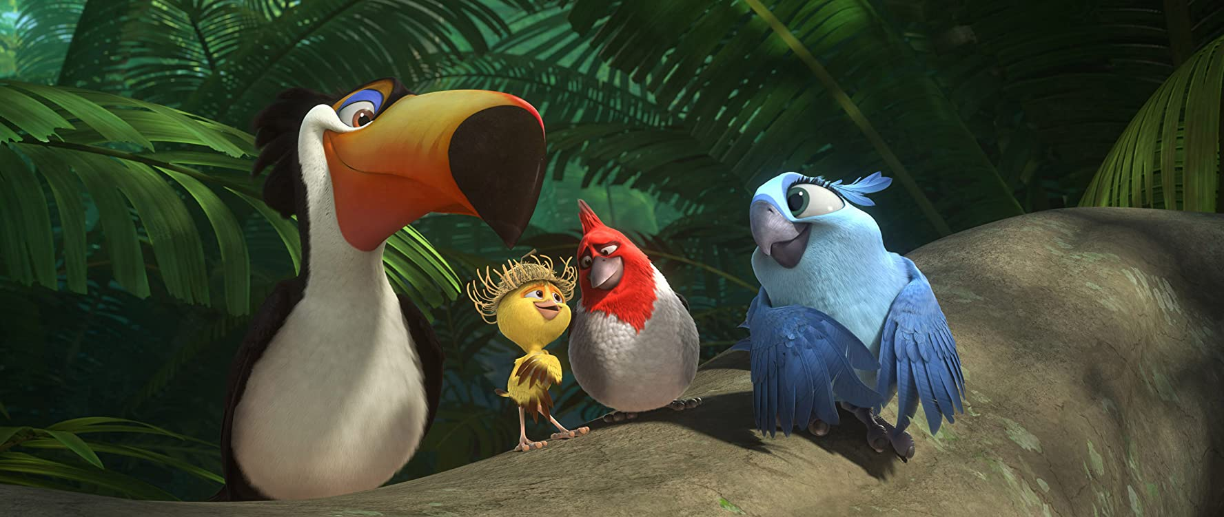 George Lopez, Tracy Morgan, Will.i.am, and Rachel Crow in Rio 2 (2014)