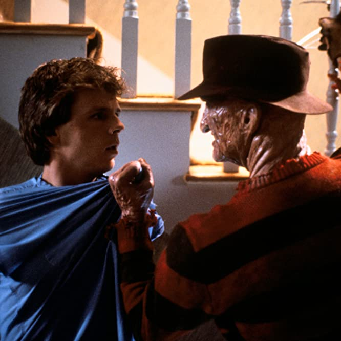 Robert Englund and Mark Patton in A Nightmare on Elm Street 2: Freddy's Revenge (1985)