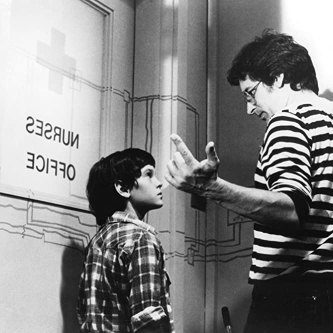 Steven Spielberg and Henry Thomas in E.T. the Extra-Terrestrial (1982)