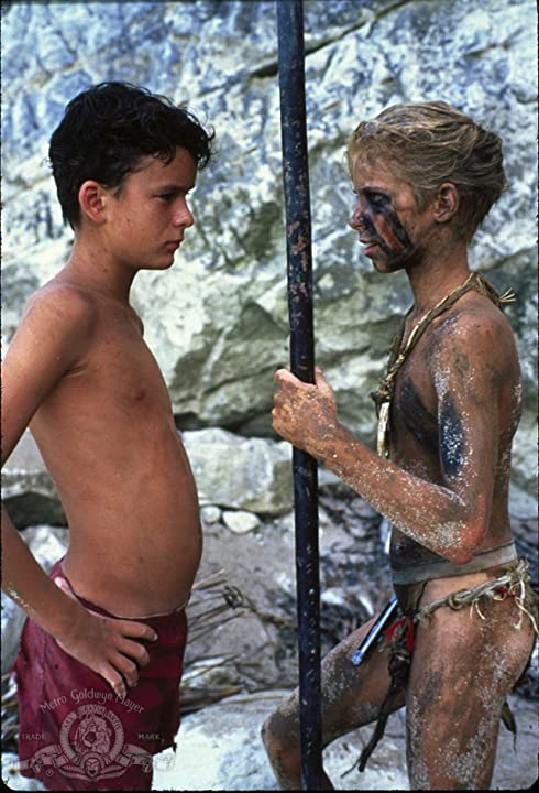 Balthazar Getty and Chris Furrh in Lord of the Flies (1990)