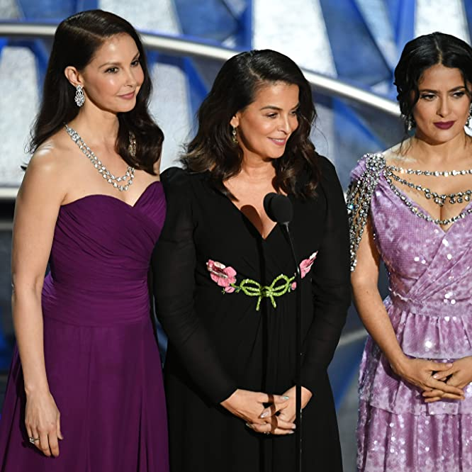 Salma Hayek, Ashley Judd, and Annabella Sciorra at an event for The Oscars (2018)