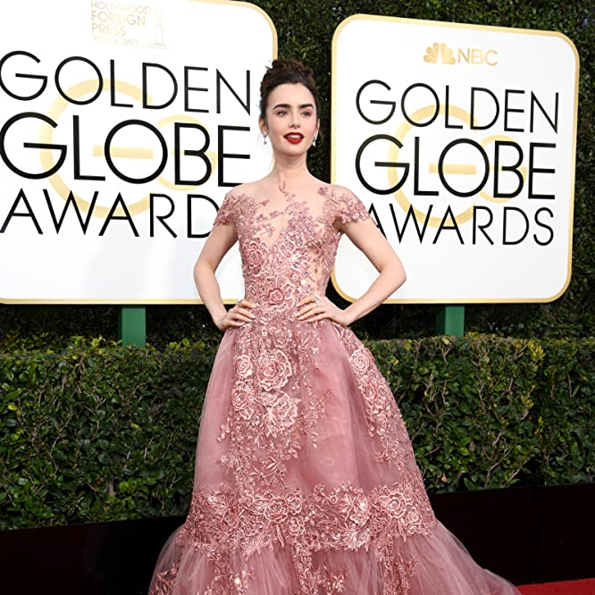 Lily Collins at an event for The 74th Golden Globe Awards (2017)