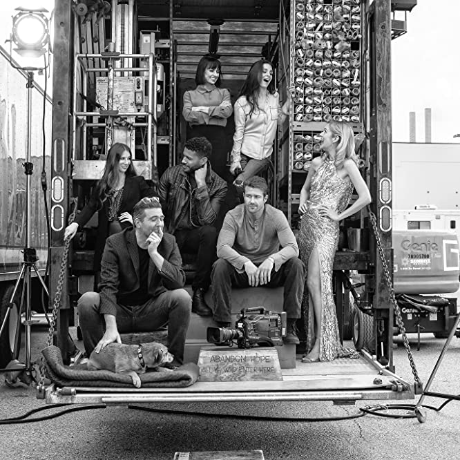 Shiri Appleby, Constance Zimmer, Genevieve Buechner, Jeffrey Bowyer-Chapman, Josh Kelly, Caitlin FitzGerald, and Craig Berko in UnREAL (2015)