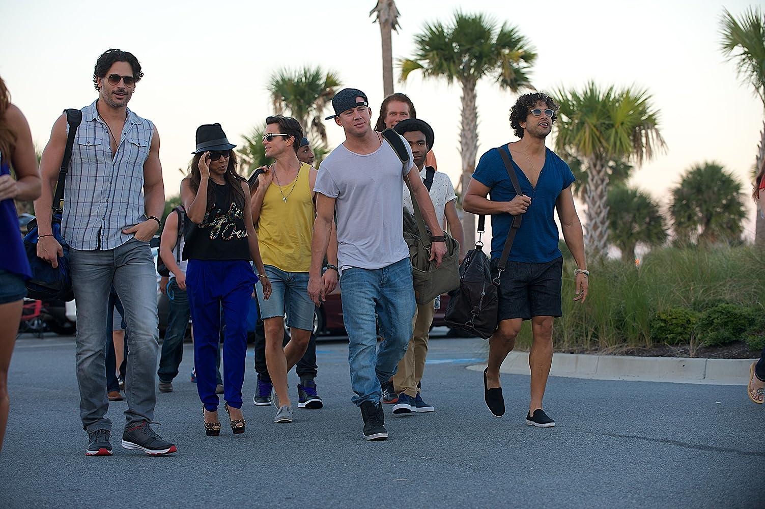 Jada Pinkett Smith, Matt Bomer, Joe Manganiello, Kevin Nash, Adam Rodriguez, and Channing Tatum in Magic Mike XXL (2015)