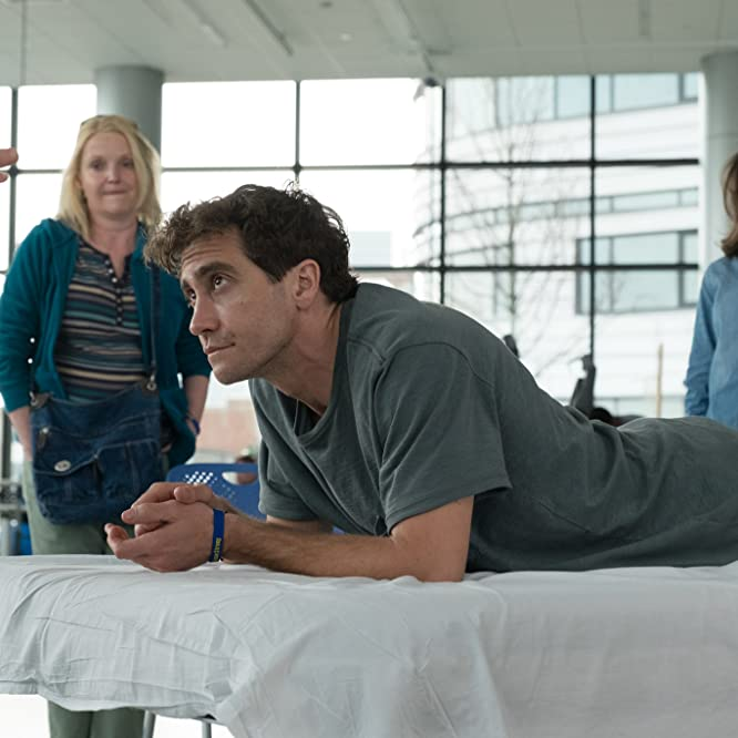Miranda Richardson, Jake Gyllenhaal, and Tatiana Maslany in Stronger (2017)