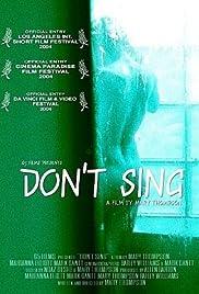 Don't Sing Poster