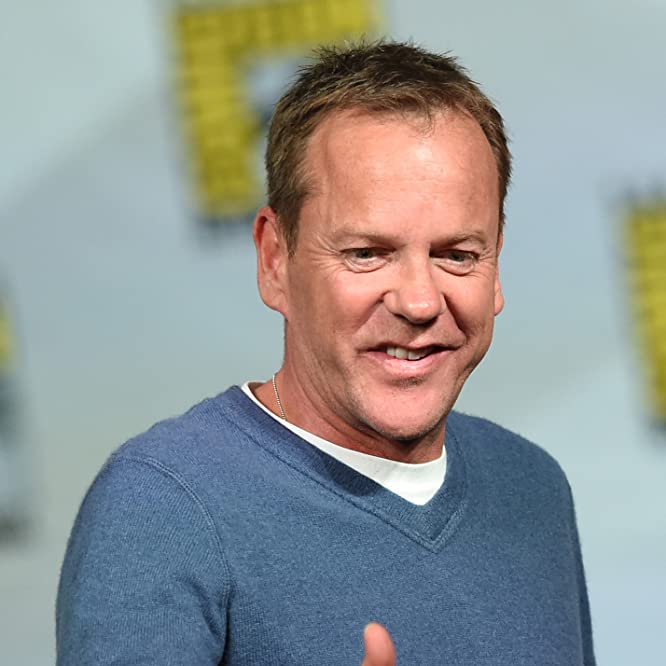 Kiefer Sutherland at an event for Metal Gear Solid V: The Phantom Pain (2015)