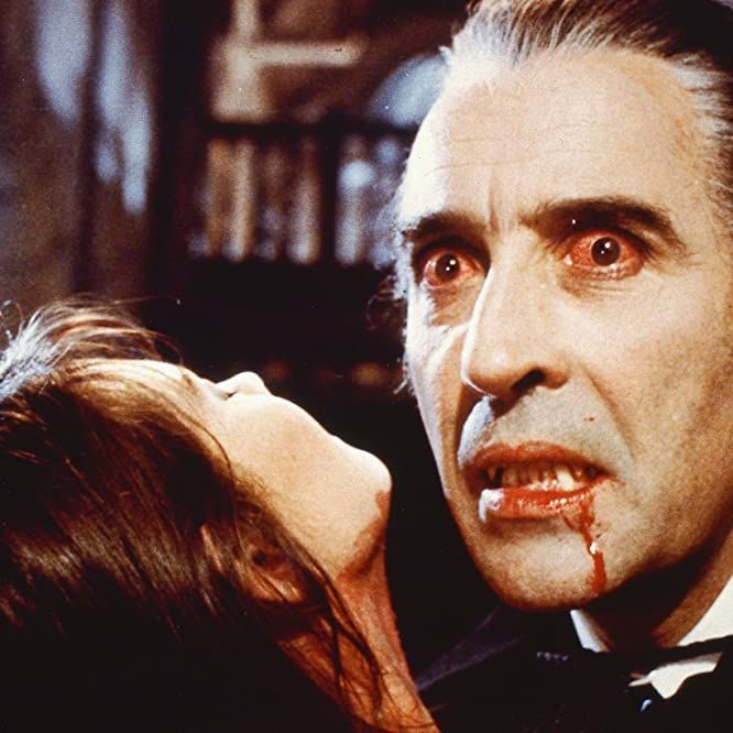 Christopher Lee and Caroline Munro at an event for Dracula A.D. 1972 (1972)