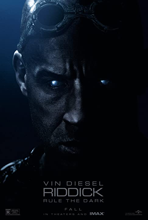 Poster Of Riddick 2013 Full Movie Download 300MB In Hindi English Dual Audio 720P Compressed Small Size Pc Movie at movies365.in