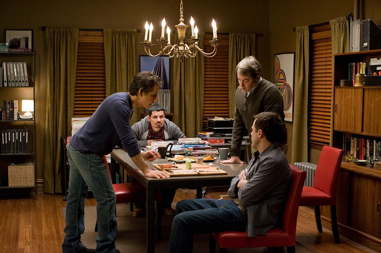 Matthew Broderick, Casey Affleck, Ben Stiller, and Michael Peña in Tower Heist (2011)