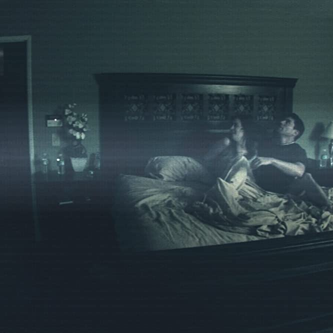 Katie Featherston and Micah Sloat in Paranormal Activity (2007)