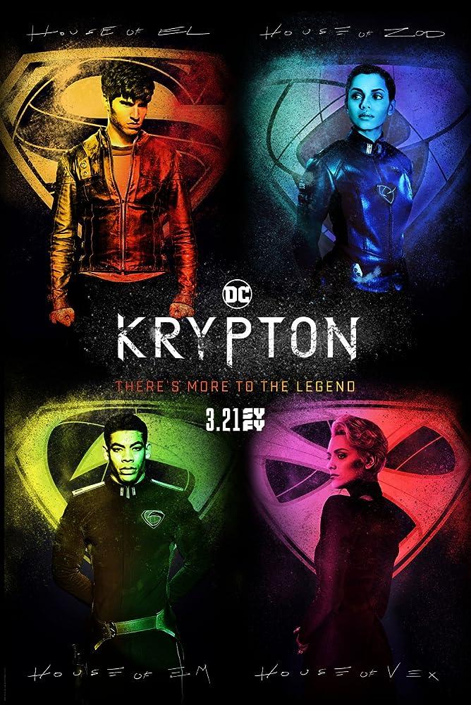Cameron Cuffe, Georgina Campbell, Wallis Day, and Aaron Pierre in Krypton (2018)