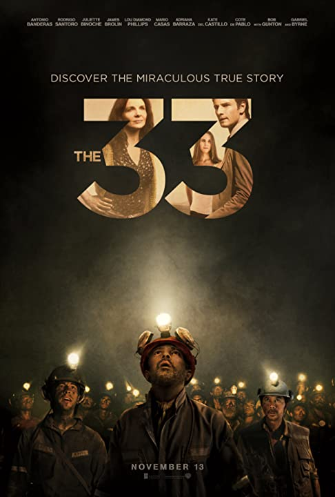 Poster Of The 33 (2015)  Full Movie Hindi Dubbed Free Download Watch Online At movies365.in