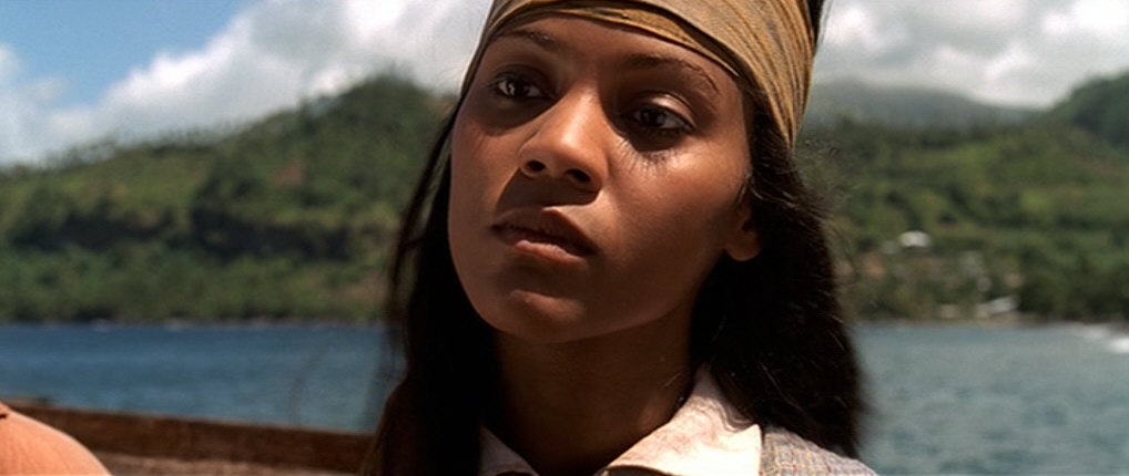 Zoe Saldana in Pirates of the Caribbean: The Curse of the Black Pearl (2003)