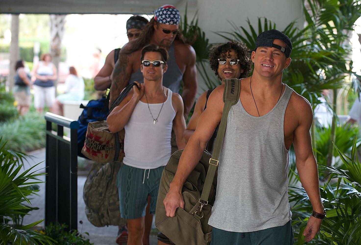 Matt Bomer, Kevin Nash, Adam Rodriguez, and Channing Tatum in Magic Mike XXL (2015)