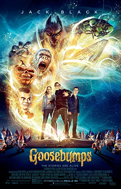 Poster Of Goosebumps 2015 Full Movie Download 300MB In Hindi English Dual Audio 720P Compressed Small Size Pc Movie at movies365.in