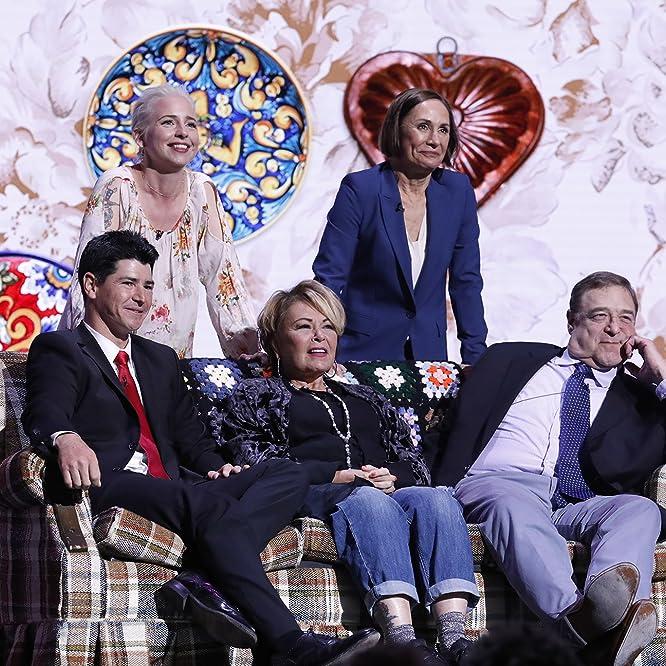 John Goodman, Roseanne Barr, Michael Fishman, Alicia Goranson, and Laurie Metcalf