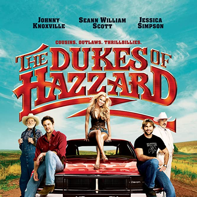 Burt Reynolds, Willie Nelson, Seann William Scott, Jessica Simpson, and Johnny Knoxville in The Dukes of Hazzard (2005)