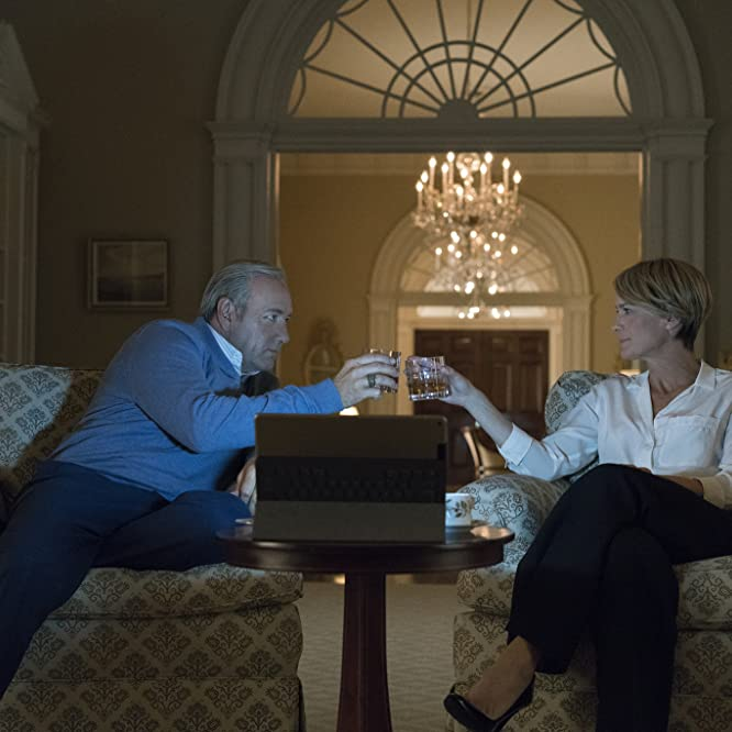 Kevin Spacey and Robin Wright in House of Cards (2013)