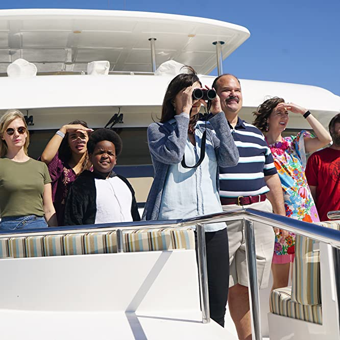 January Jones, Mary Steenburgen, Will Forte, Mel Rodriguez, Kristen Schaal, Cleopatra Coleman, and Keith L. Williams in The Last Man on Earth (2015)