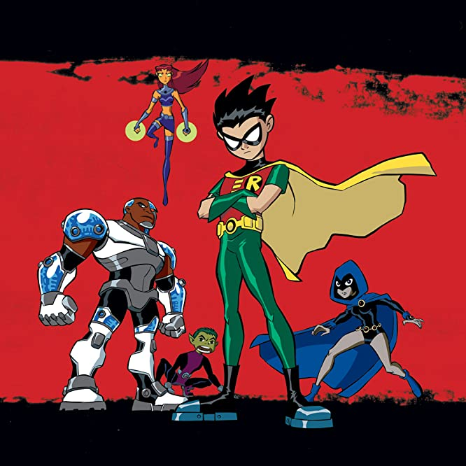 Tara Strong, Scott Menville, Hynden Walch, Greg Cipes, and Khary Payton in Teen Titans (2003)