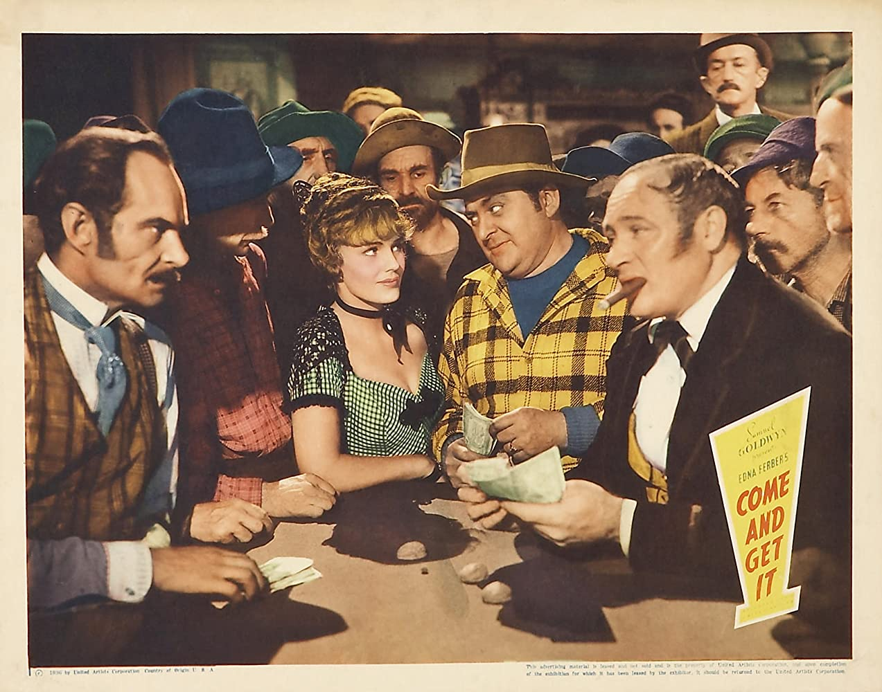 Frances Farmer, Edward Arnold, Earle Hodgins, and Edwin Maxwell in Come and Get It (1936)