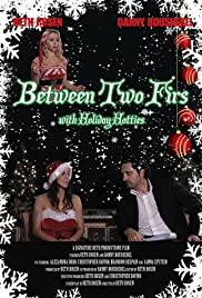 Between Two Firs with Santa's Helper Poster