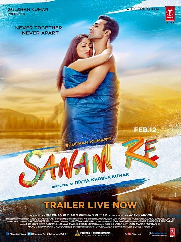 Sanam Re 2016 Hindi Full Movie 720p DVDRip 700MB 900MB Free Download at www.movies365.in