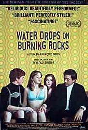 Gouttes d'eau sur pierres brûlantes Poster