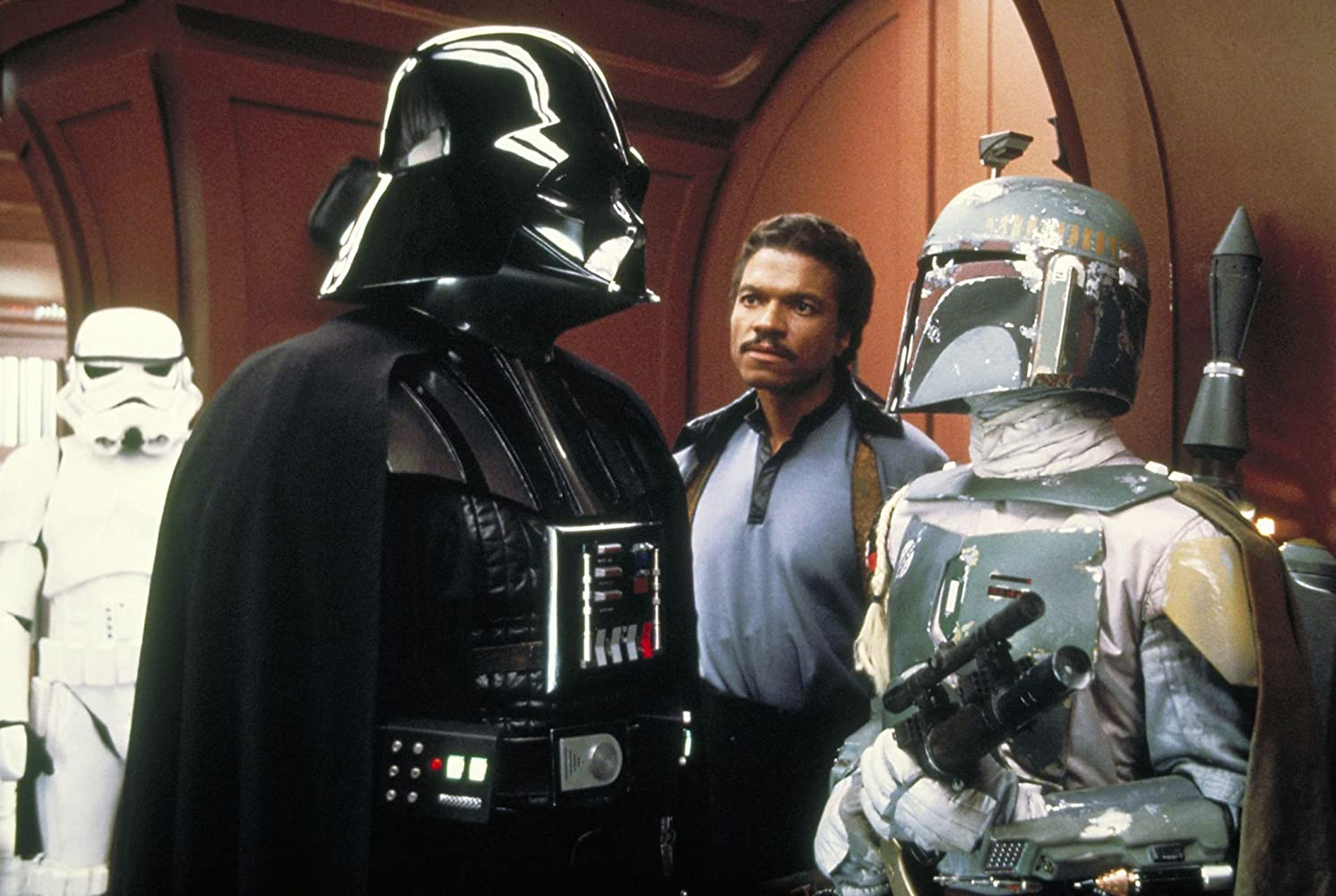 David Prowse, Billy Dee Williams, and John Morton in Star Wars: Episode V - The Empire Strikes Back (1980)