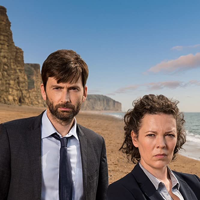 David Tennant and Olivia Colman in Broadchurch (2013)