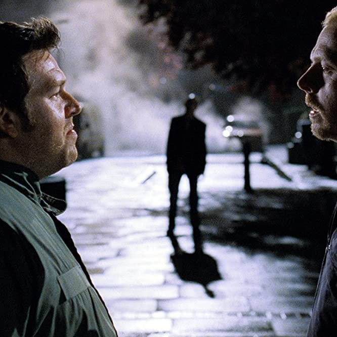 Nick Frost and Simon Pegg in Shaun of the Dead (2004)