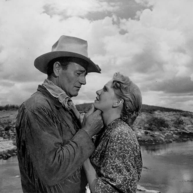 John Wayne and Geraldine Page in Hondo (1953)