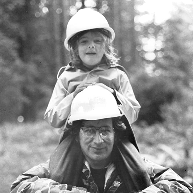 Drew Barrymore and Steven Spielberg in E.T. the Extra-Terrestrial (1982)