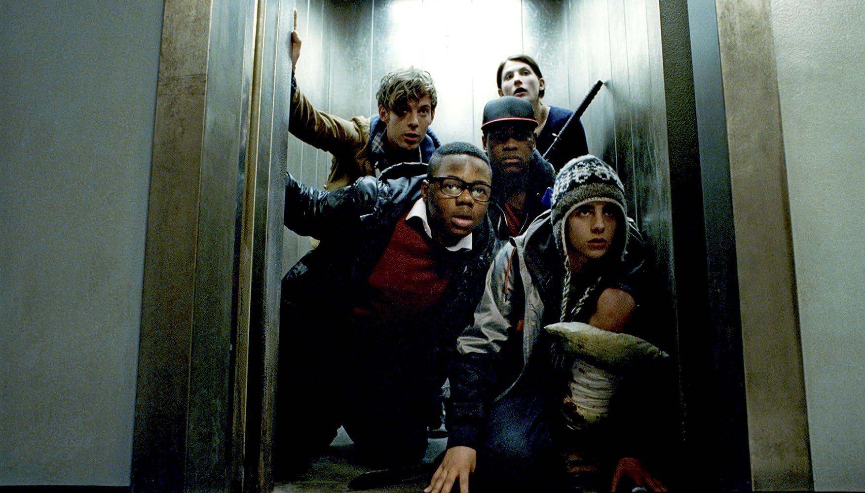 Luke Treadaway, Jodie Whittaker, Alex Esmail, Leeon Jones, and John Boyega in Attack the Block (2011)