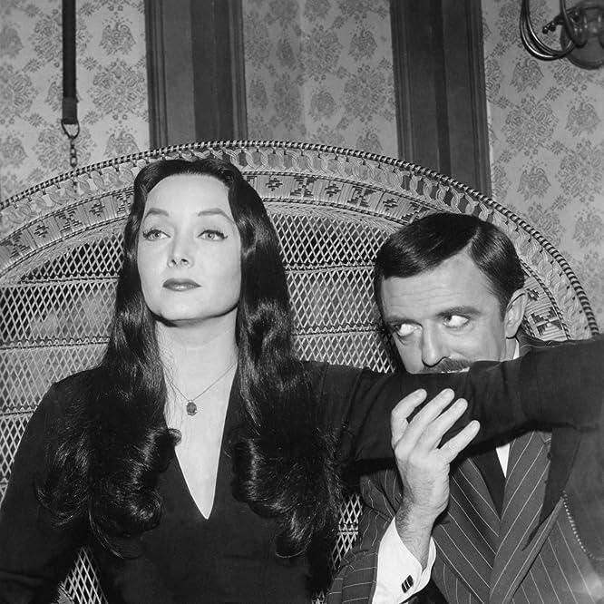 John Astin and Carolyn Jones in The Addams Family (1964)