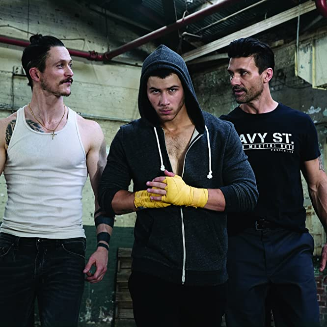 Jonathan Tucker, Frank Grillo, and Nick Jonas in Kingdom (2014)