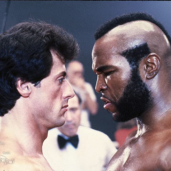 Sylvester Stallone, Mr. T, and Marty Denkin in Rocky III (1982)